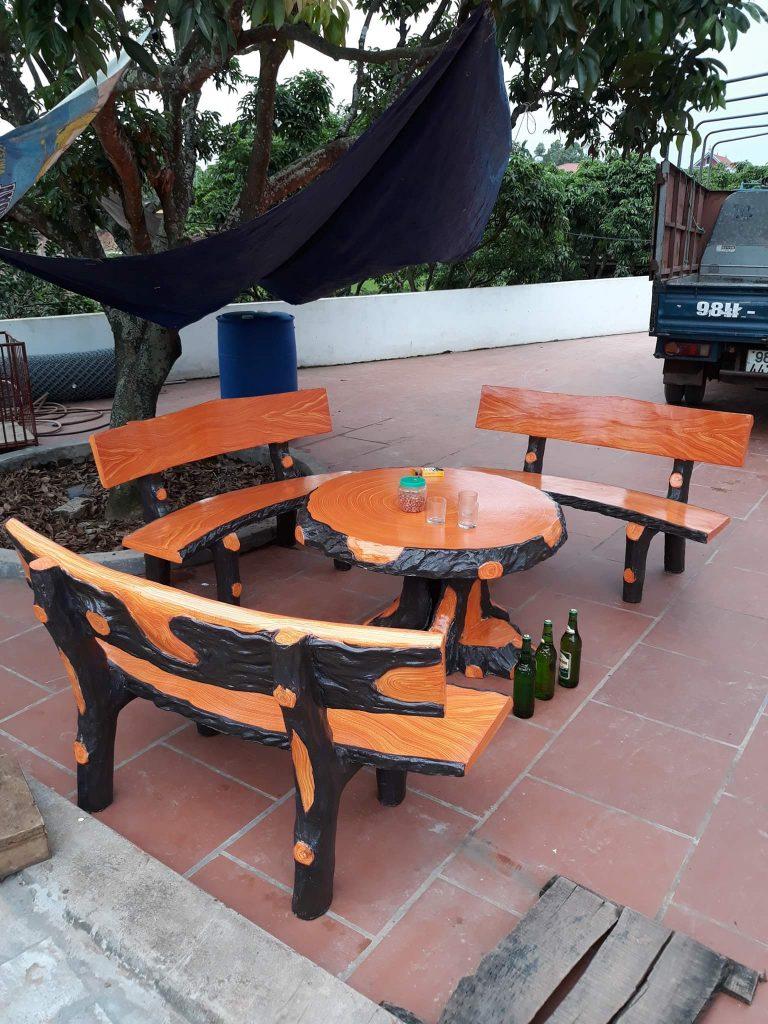 khuôn bàn ghế giả gỗ